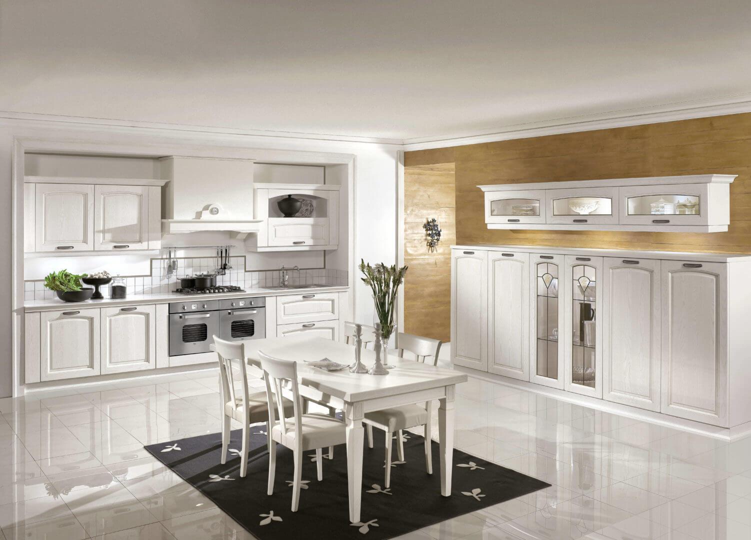 cucina bianca in legno padova