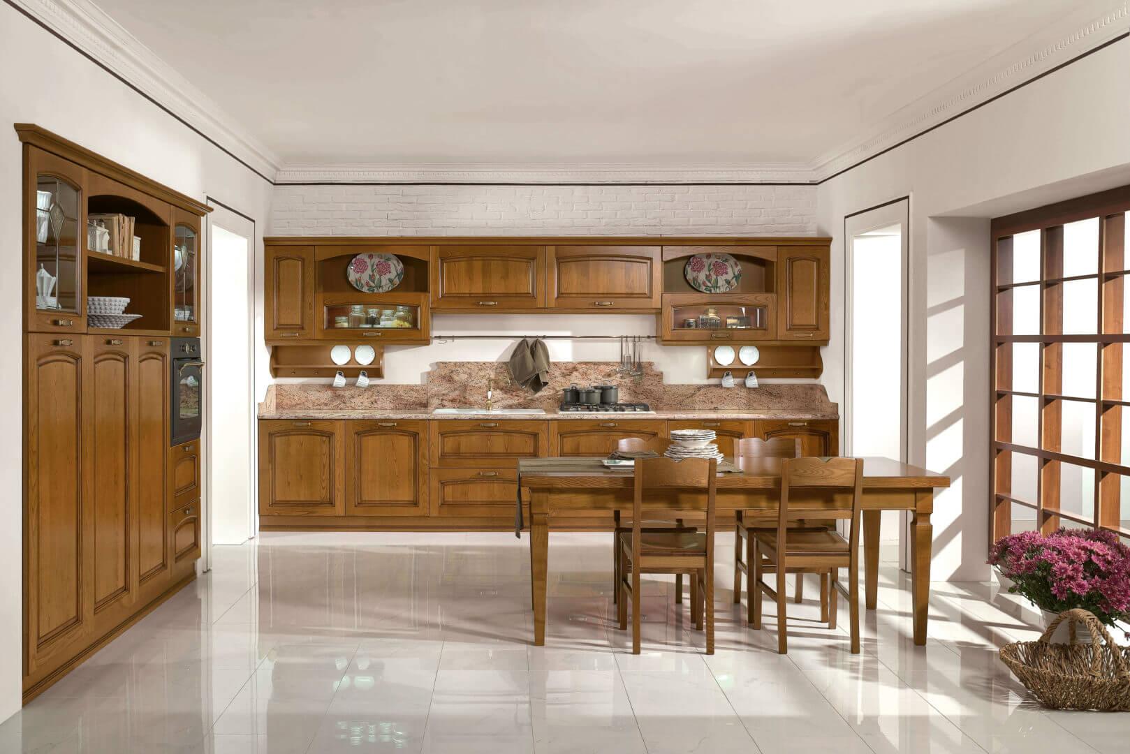 cucina classica legno massello padova
