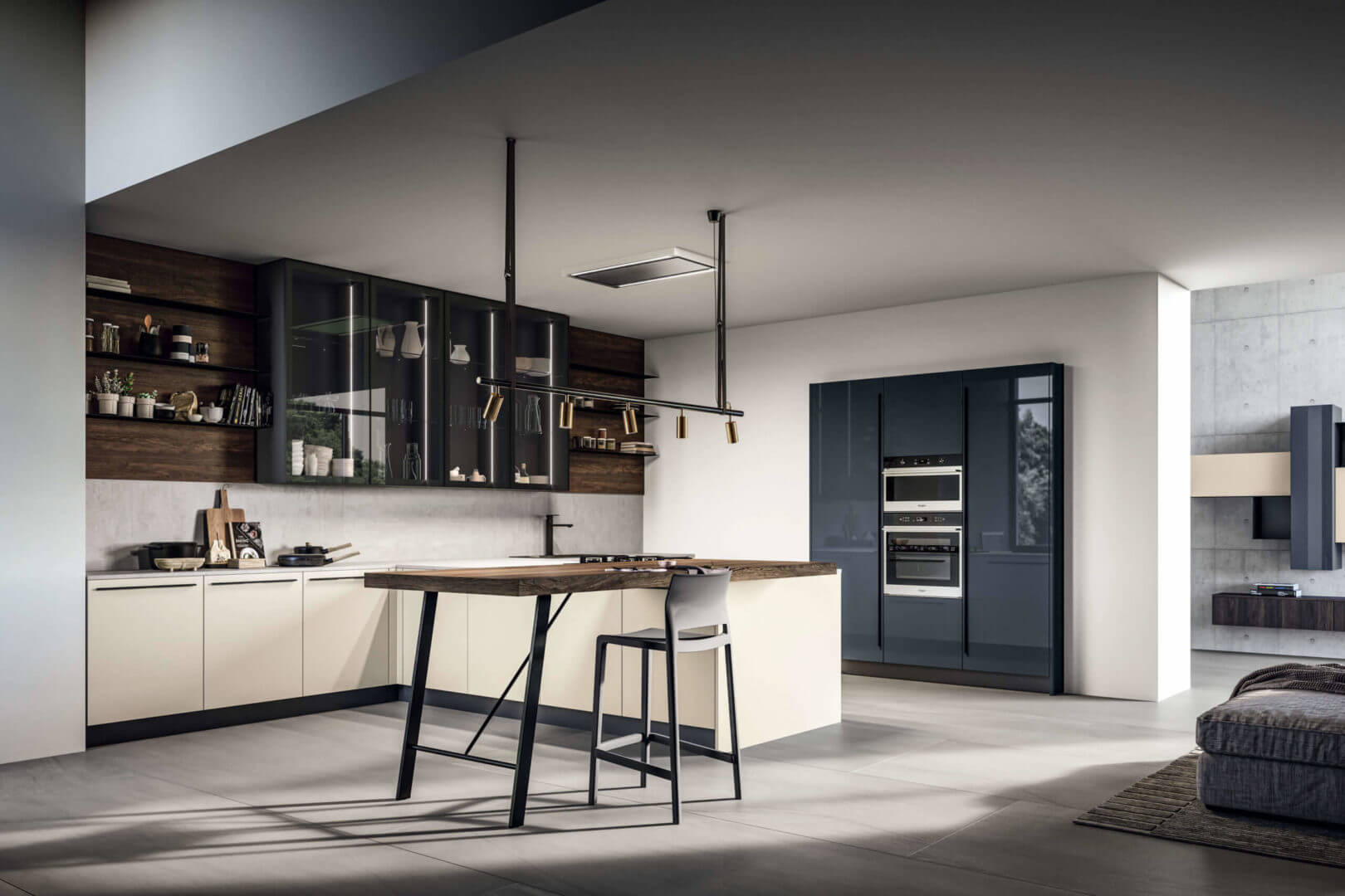 cucina design laminato legno