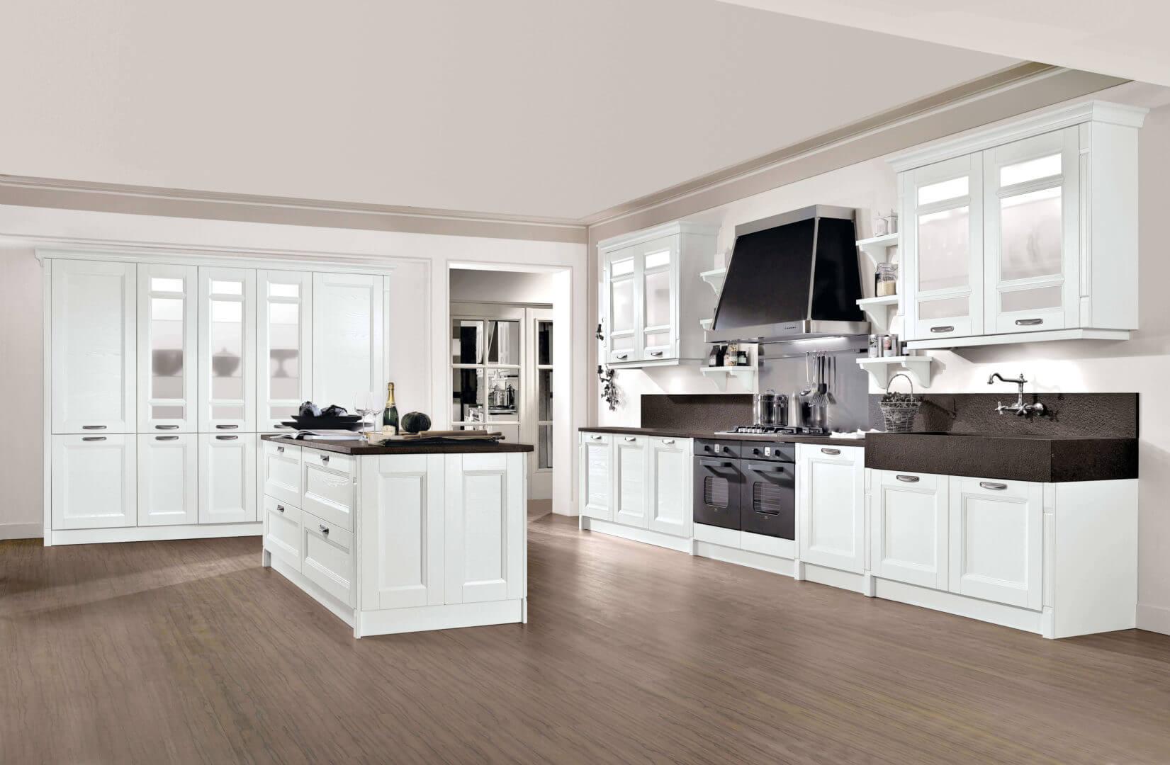 cucina gioiosa bianco nero
