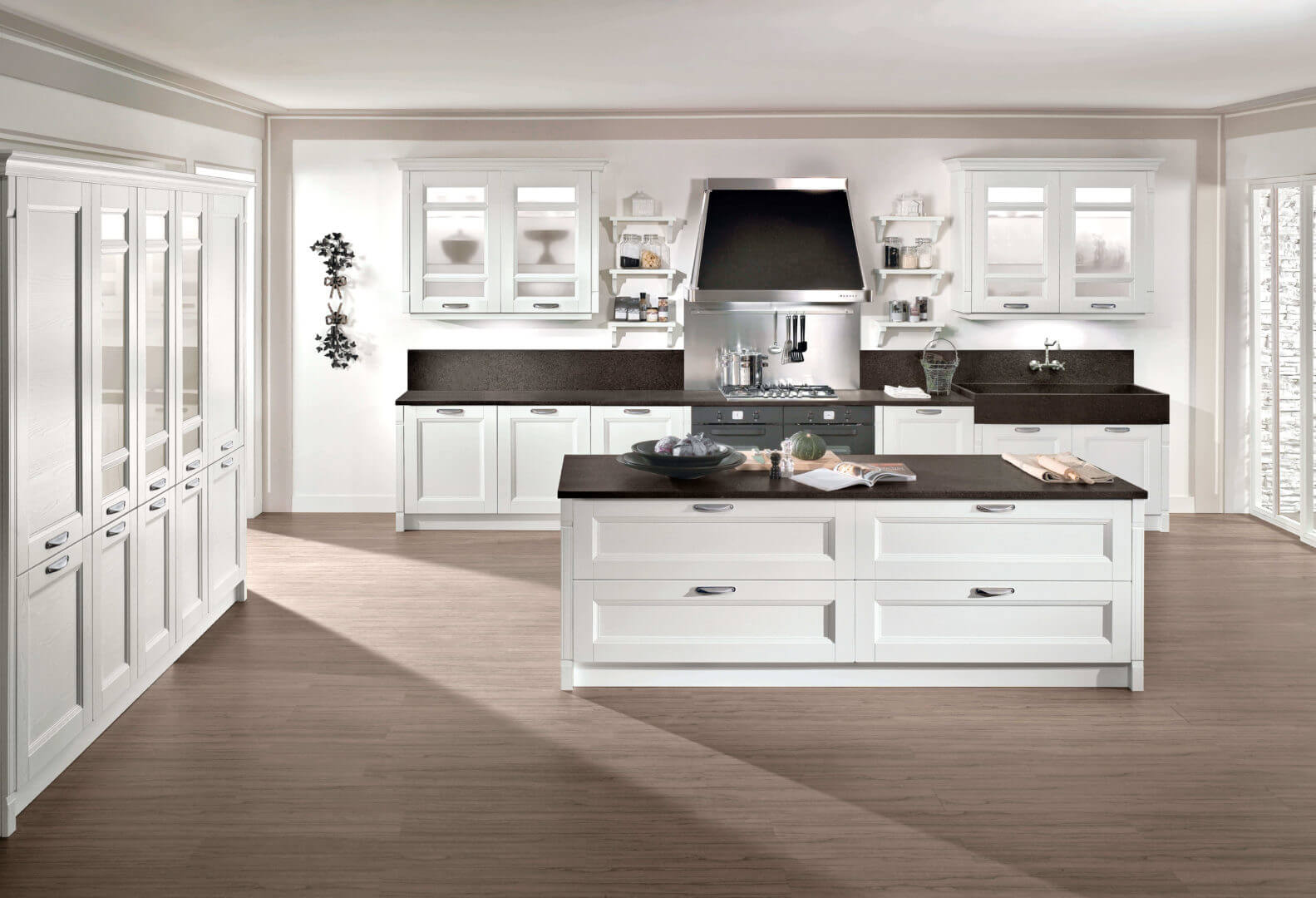 cucina moderna bianca isola padova