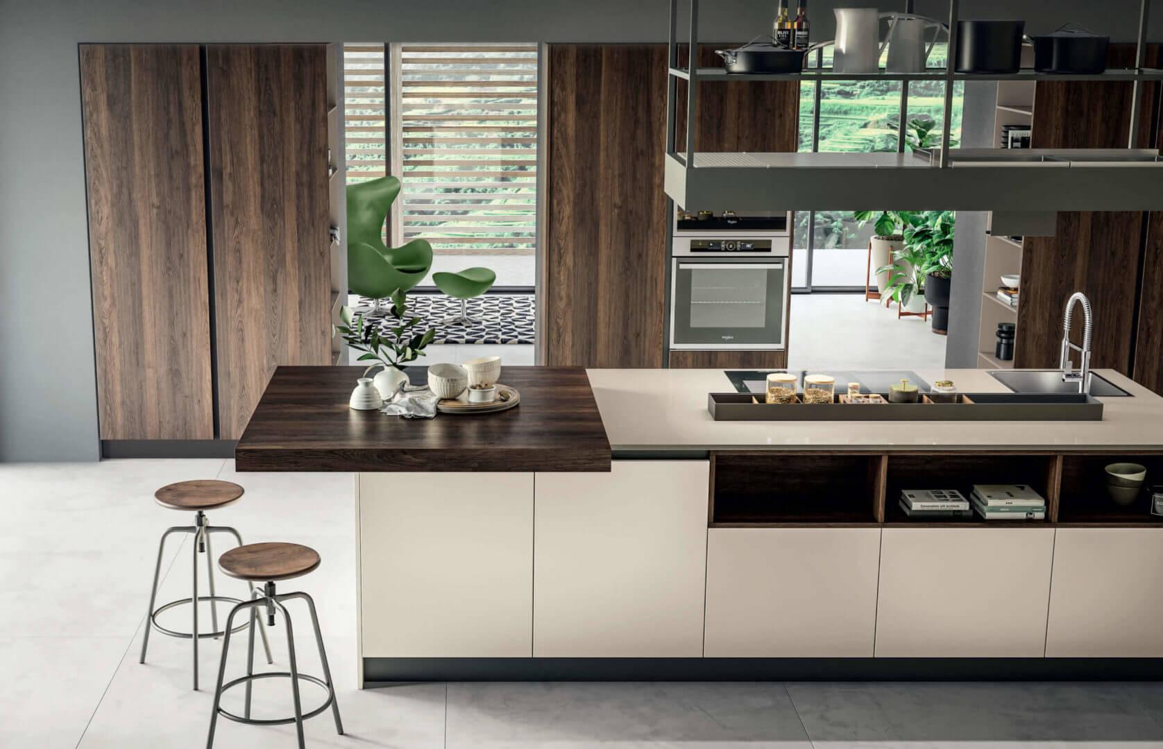 cucina moderna con isola laminato padova
