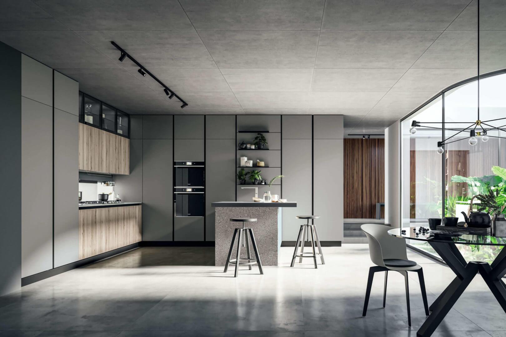 cucina isola laminato design