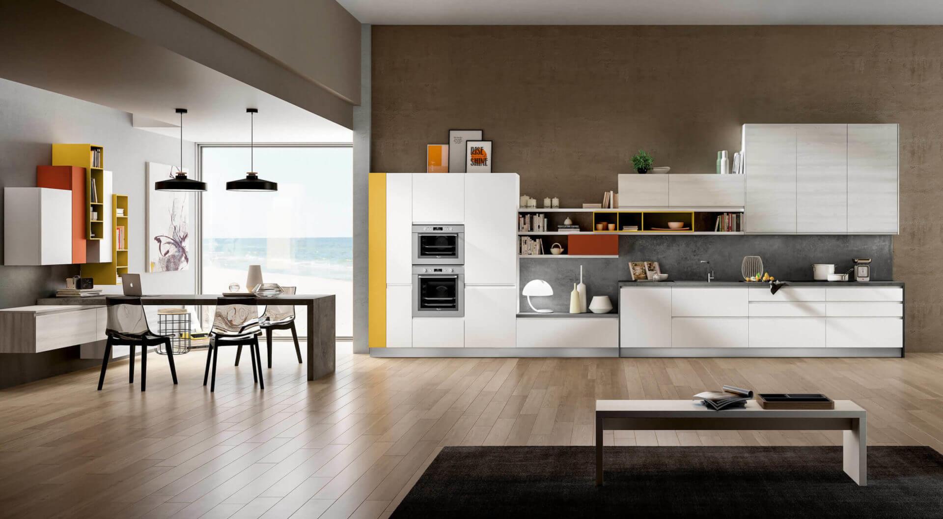 cucina lineare moderna carraro mobili