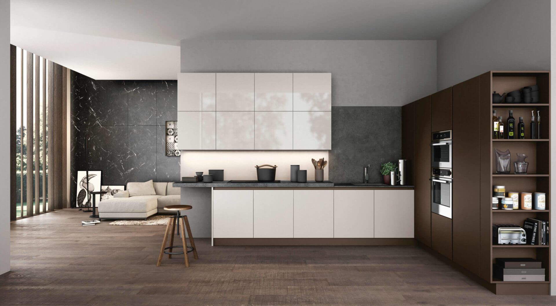 cucina laccata moderna carraro mobili