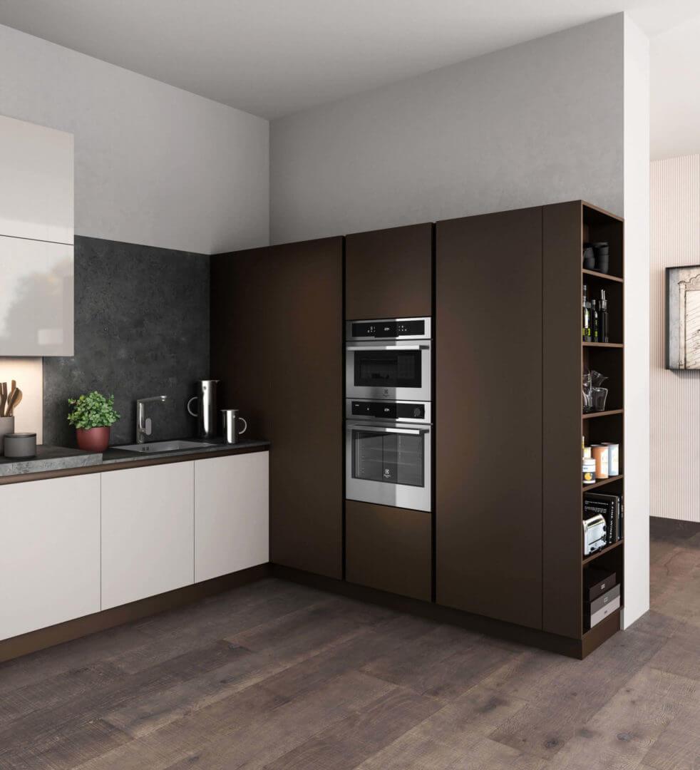 cucina laccata ad angolo carraro mobili
