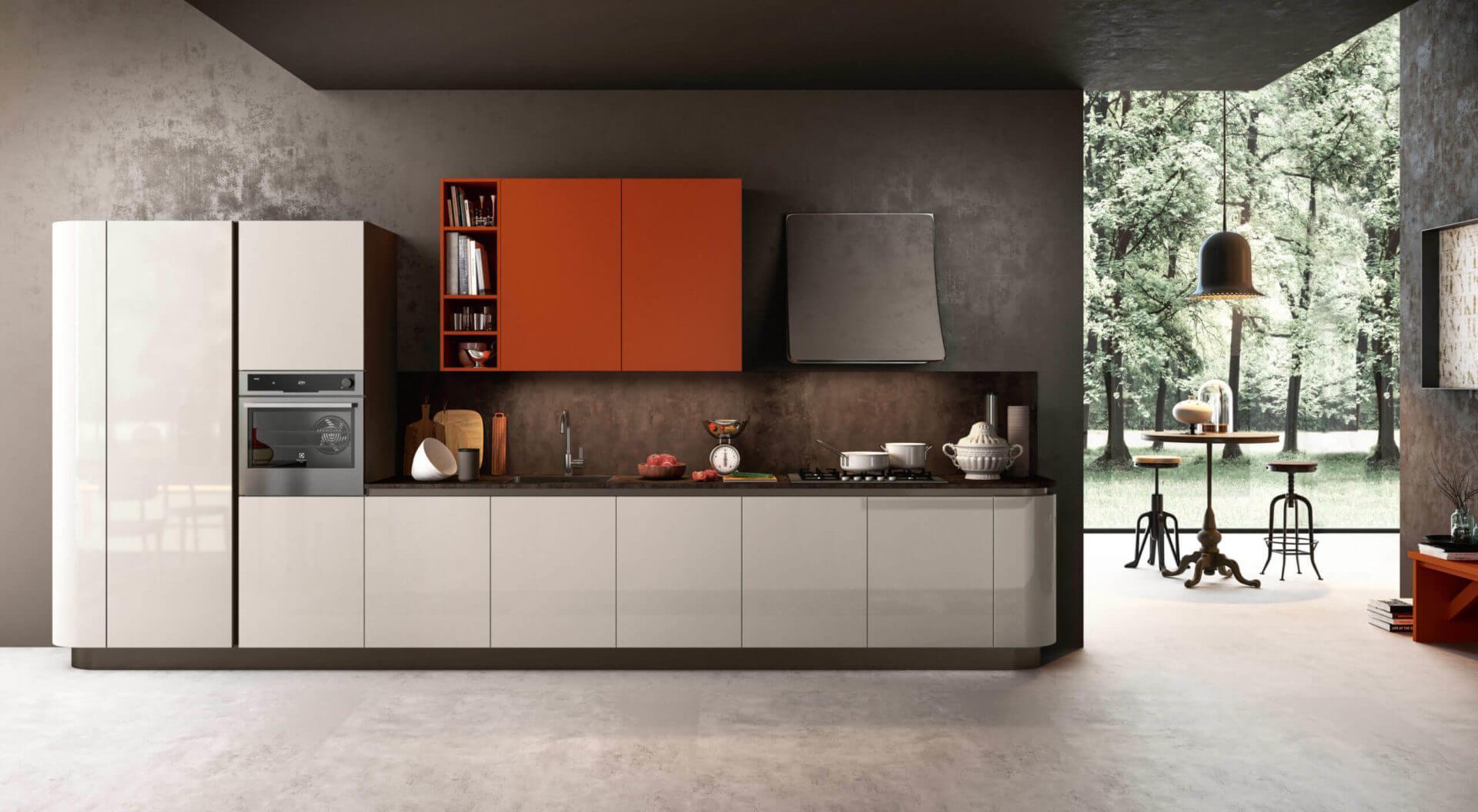cucina laccata design carraro mobili