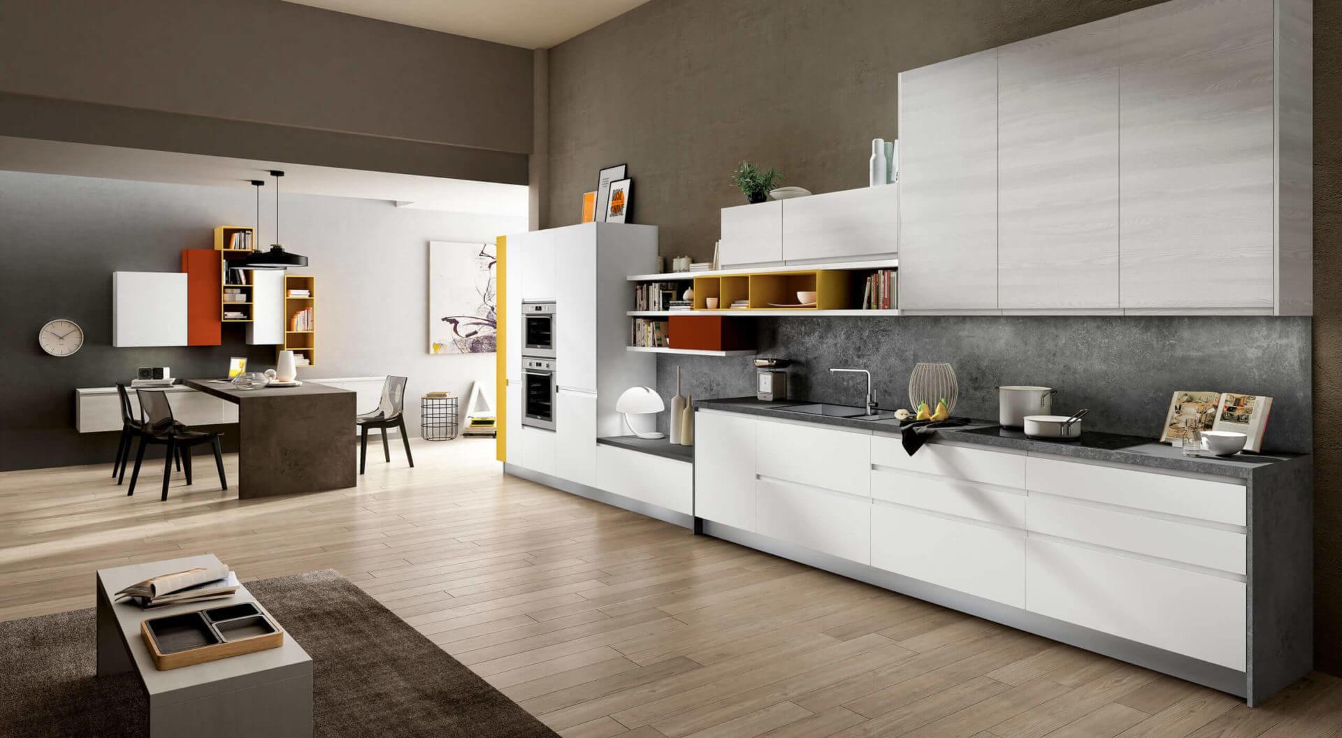 cucina moderna lineare padova senza maniglie