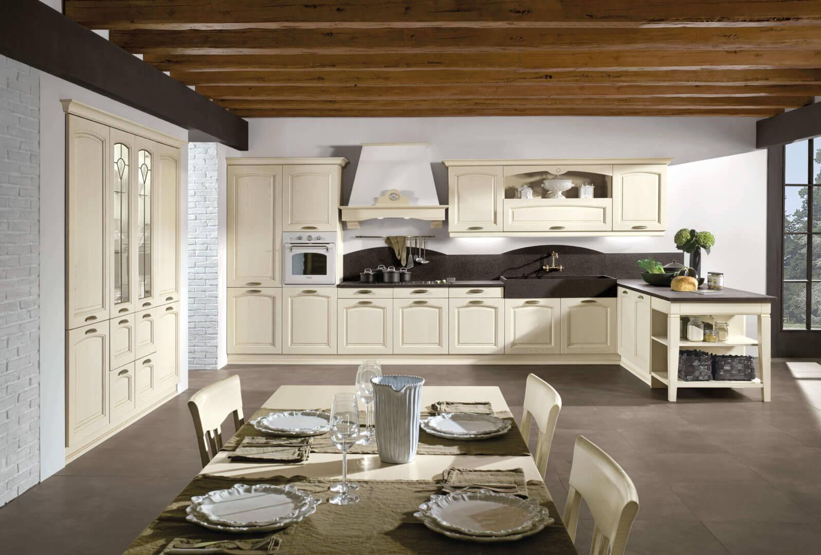 cucina color crema classica padova