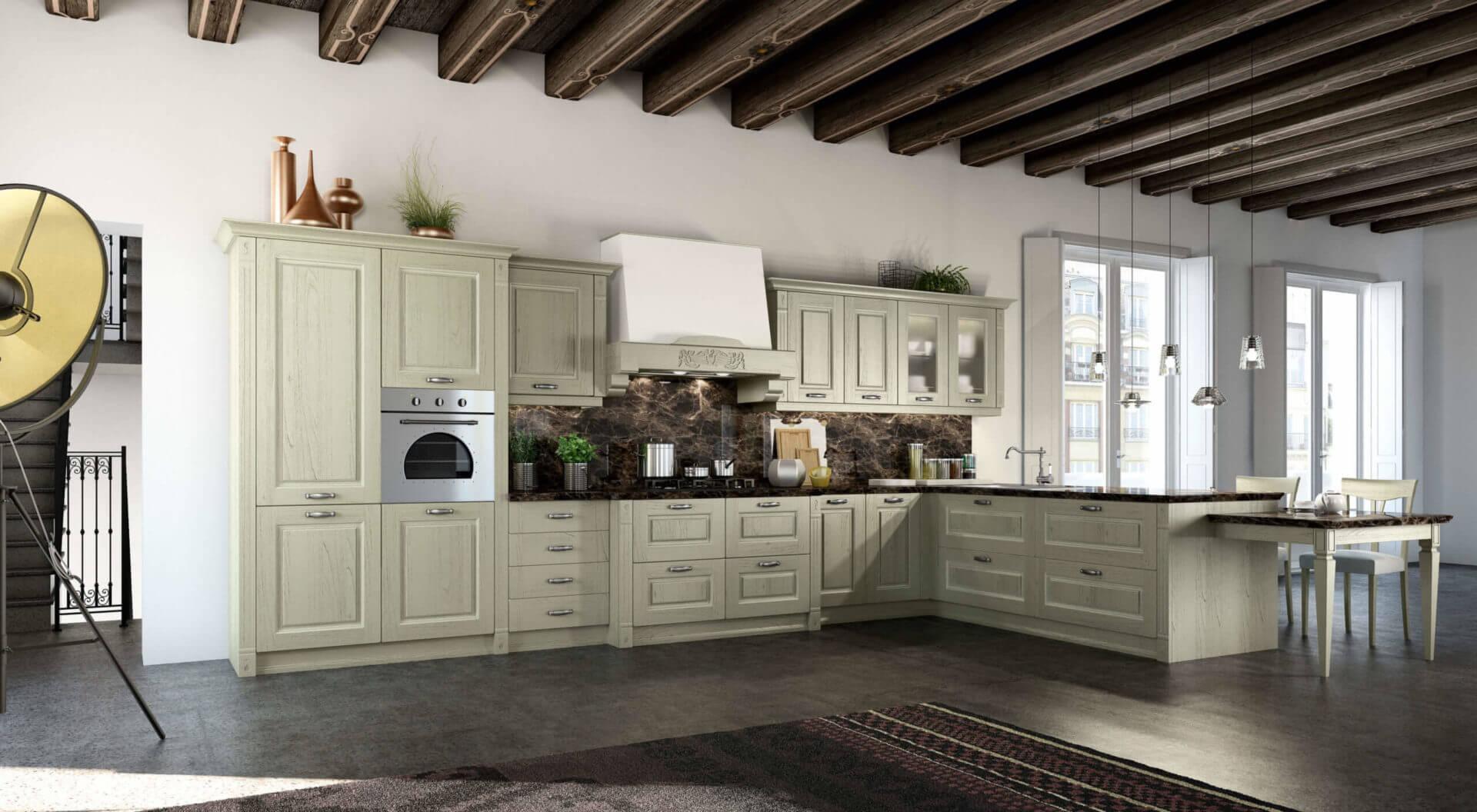 cucina classica legno padova