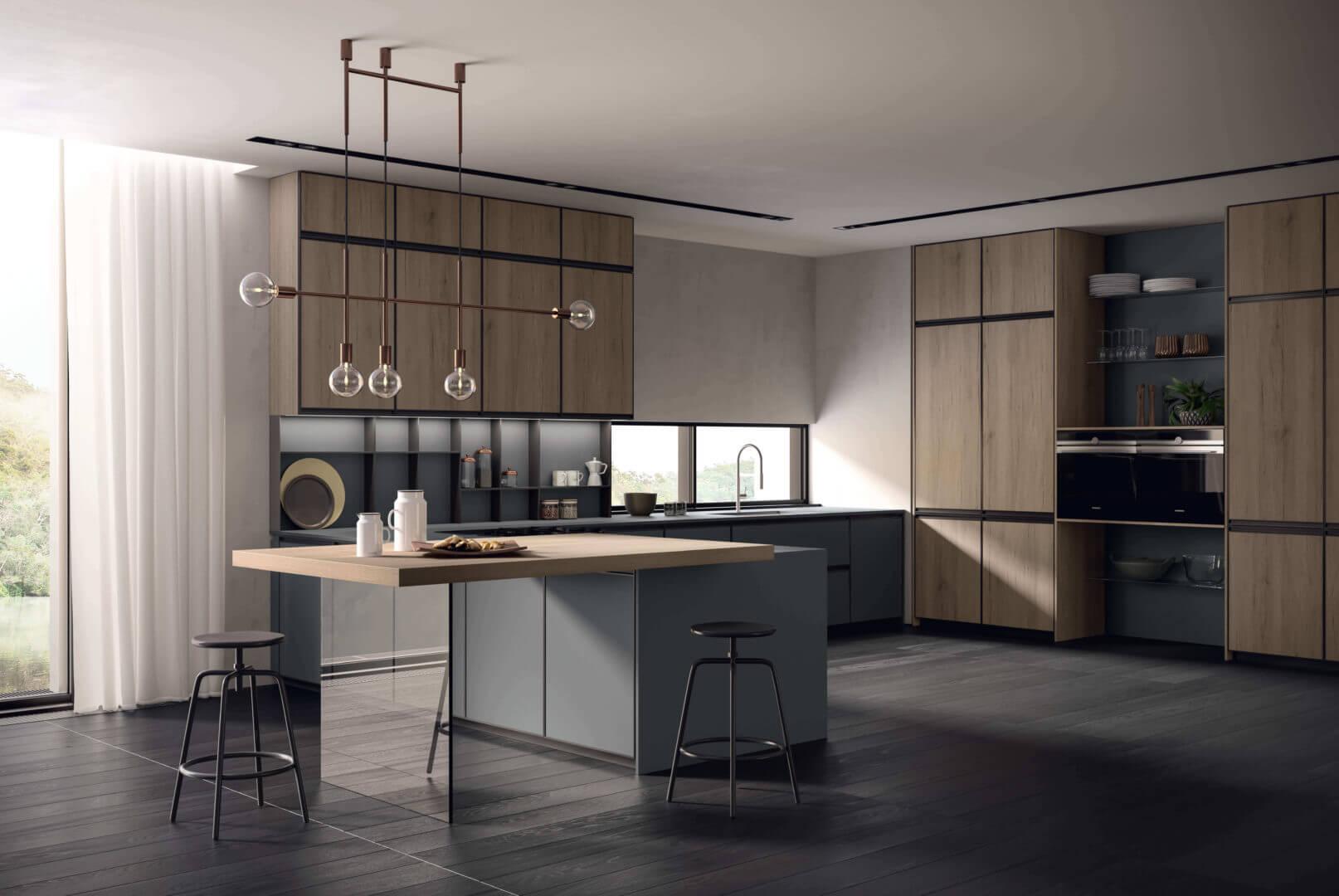 cucina design con isola padova