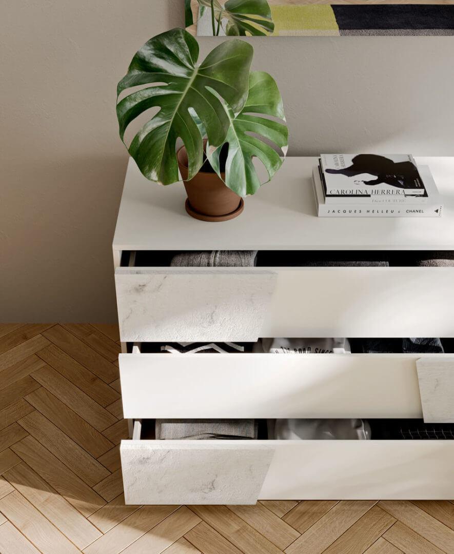 cassettiera marmo bianco padova