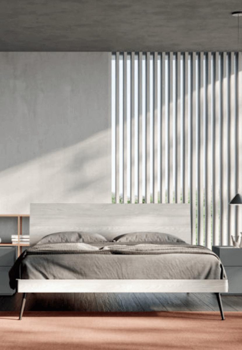 mobili grigi camera da letto