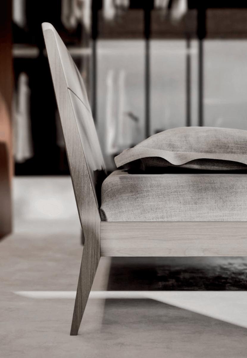dettaglio letto legno design
