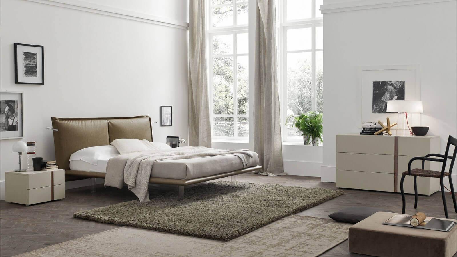 camera da letto arredamento bianco padova