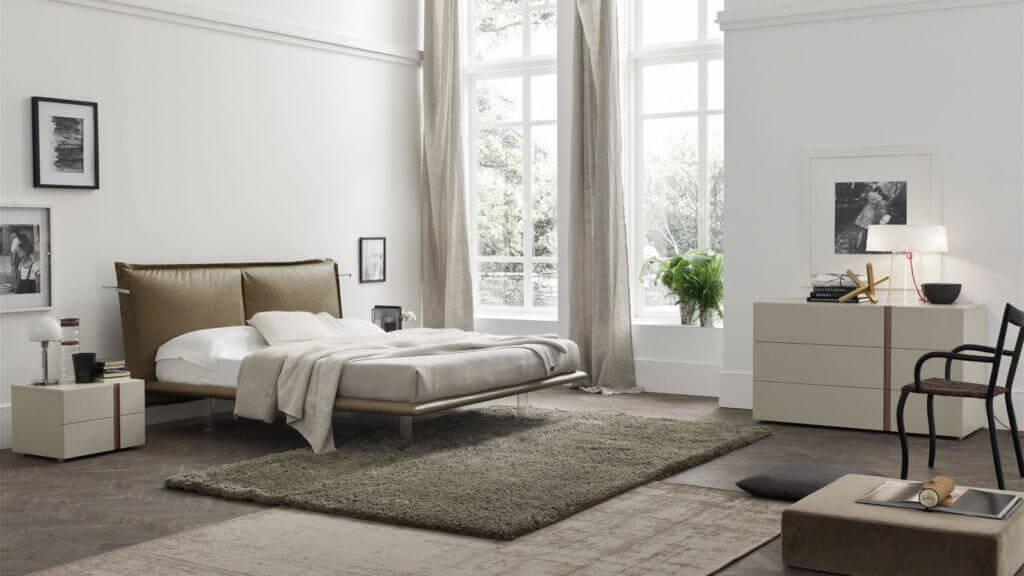 arredamento chiaro camera da letto padova